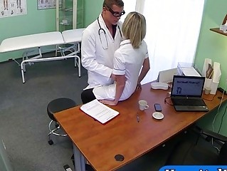 Fraud doctor fucked his nurse assistant
