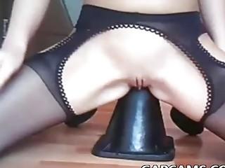 freaky masturbation by amateur blonde