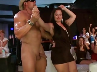 Horny women were lined up to suck cocks