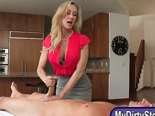 Two horny women Taylor Whyte and Brandi Love share a cock