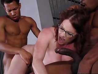 Busty Maggie Green Has Interracial Threesome