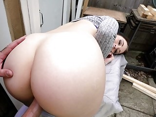 Brunette whore sells her pussy for a very cheap price