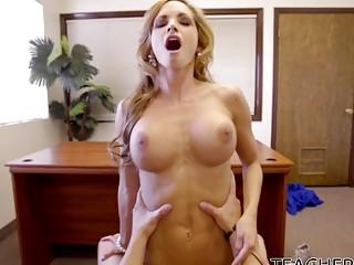 Glamorous blonde teacher fucked balls deep in a hidef video