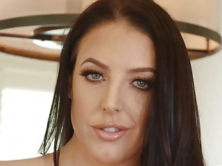 Huge natural Angela White plowed in the kitchen