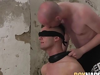 Tormented sub anal probed by deviant dom